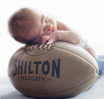 photos bébé rugby
