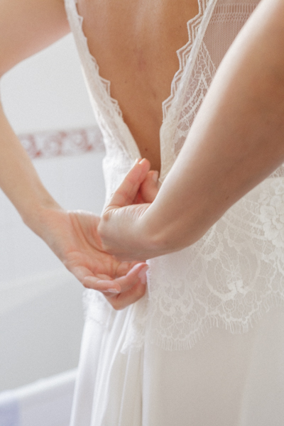 fermeture robe mariée