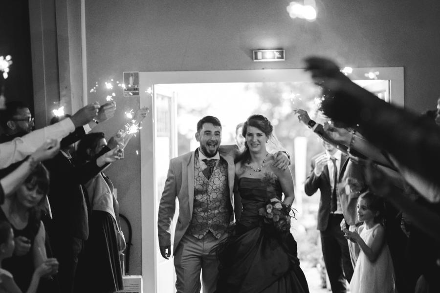 entrée mariés lumière