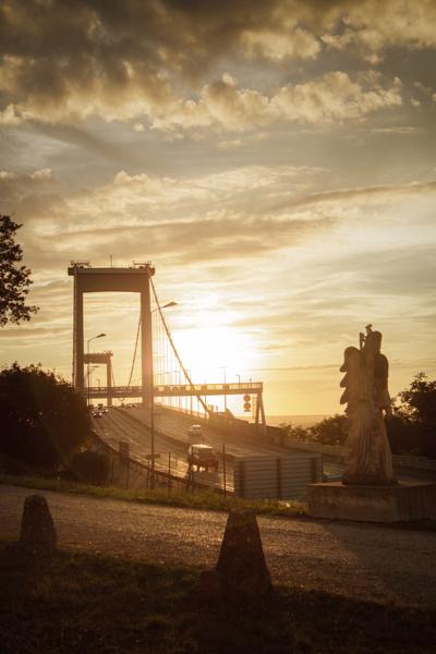 coucher soleil pont d'aquitaine mariage