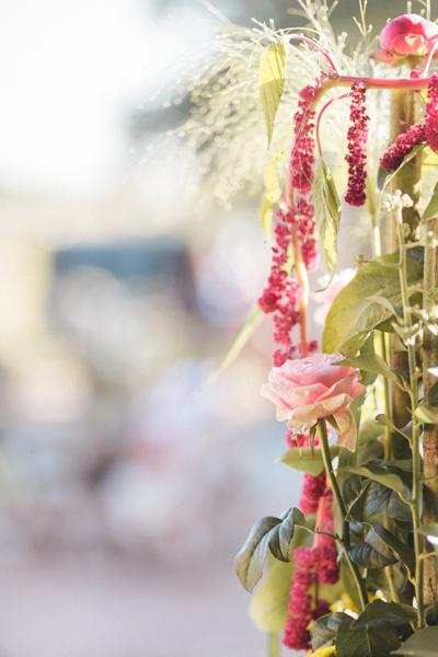 fleurs mariage tombantes