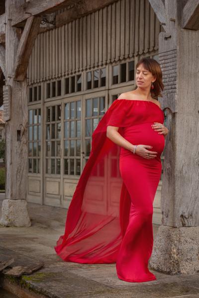 grossesse robe rouge