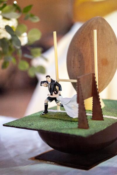 ballon rugby pièce montée