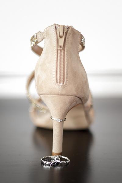 chaussures mariée alliances