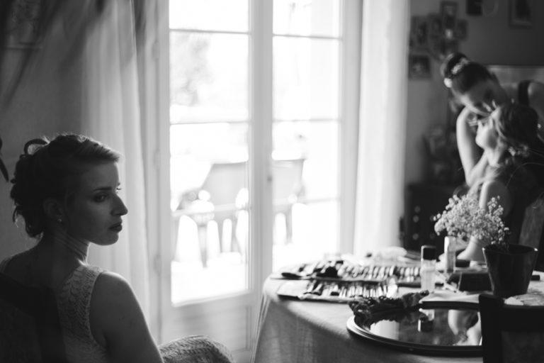 photo préparatifs mariée virazeil